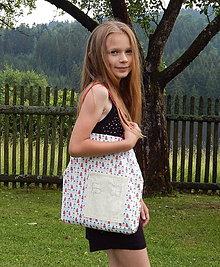 Detské tašky - Detská nákupná taška - Domček ♥ - 9601162_