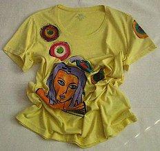 Tričká - Žlté tričko - 9599972_