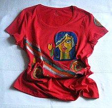 Tričká - Červené tričko - 9600852_