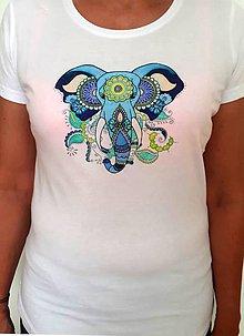 Tričká - Slon na tričku - 9602307_