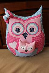 Úžitkový textil - sovička s malou sovičkou v brušku - 9602286_