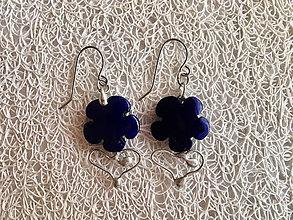 Náušnice - Kráľovské modráčiky...    náušnice - 9600046_