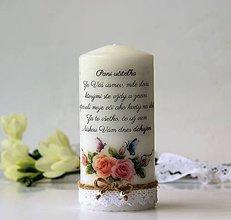 Svietidlá a sviečky - Dekoračná sviečka pre pani učiteľky - 9601005_