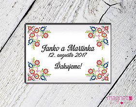Darčeky pre svadobčanov - Folklórne magnetky pre svadobčanov - 02b - 9600163_
