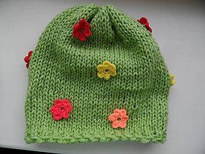 Detské čiapky - dievčenská čiapočka prechodná - 9601795_