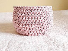 Košíky - Ružový košík - 9600909_