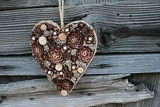 Dekorácie - šiško-srdce obojstranné1 - 9600492_