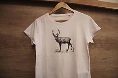 Tričká - Ručne kreslené tričko Jeleň - 9602509_