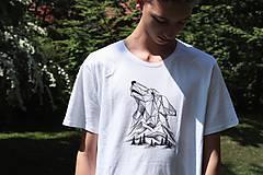 Tričká - Ručne kreslené tričko s Vlkom - 9602528_