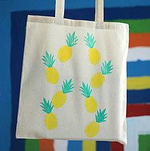 Nákupné tašky - Ananáska. - 9600520_