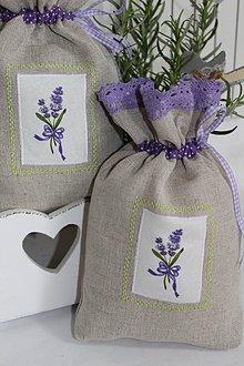 Úžitkový textil - Vrecká na bylinky...levanduľa - 9600954_