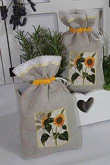 Úžitkový textil - Vrecká na bylinky-slnečnica... - 9601281_