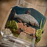 Nádoby - Pre rybára - krígel na pivo - darčekový - 9602327_