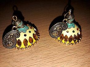 Náušnice - Náušnice žlté - 9602299_