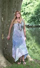 Šaty - Ľanové šaty batikované Mandaly - 9602066_