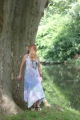 Šaty - Batikované ľanové šaty Mandaly - 9602068_