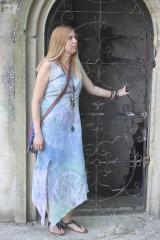 Šaty - Ľanové šaty batikované Mandaly - 9602070_