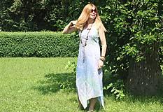 Šaty - Ľanové šaty batikované Mandaly - 9602071_