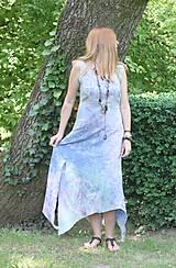 Šaty - Ľanové šaty batikované Mandaly - 9602072_