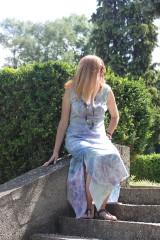 Šaty - Ľanové šaty batikované Mandaly - 9602075_
