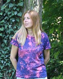 Tričká - Batikované tričko Galaxia 100 % bavlna veľkosť M - 9601852_