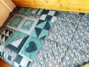 Úžitkový textil - Patchwork prehoz na posteľ - 9601474_