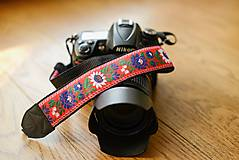 Nezaradené - Popruh na fotoaparát červený - 9600399_