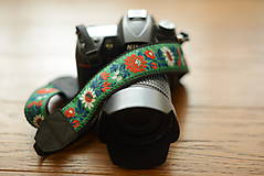 Nezaradené - Popruh na fotoaparát zelený - 9600411_
