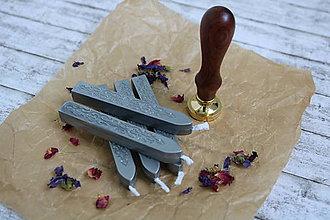 Suroviny - Pečatný vosk - Strieborný - 9602182_