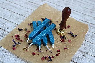 Suroviny - Pečatný vosk - Modrý - 9602246_