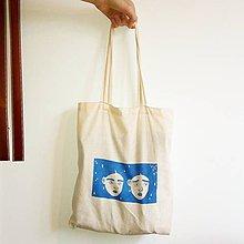 Nákupné tašky - plátená tote taška (tváre) - 9601673_