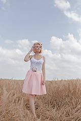 Sukne - Romantická skladaná sukňa