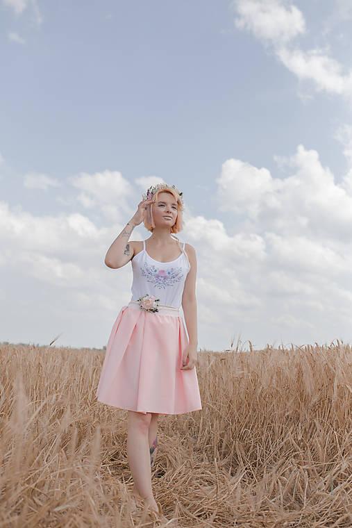 """Romantická skladaná sukňa """"s láskou"""""""