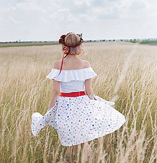 Sukne - Autorská midi sukňa