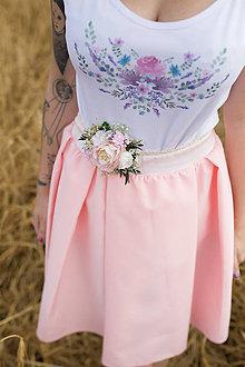 """Opasky - Kvetinový opasok na čipke """"s láskou..."""" - 9602002_"""