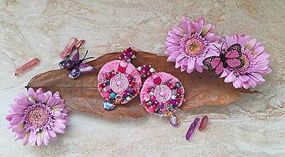 Náušnice - Náušničky roses ruzove - 9601248_