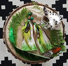 Náušnice - Zelene ombre lístkové nausnicky - 9601341_