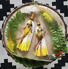 Náušnice - Ombre žlté nausnicky - 9601345_