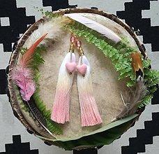 Náušnice - Ombre pink nausnicky - 9601371_