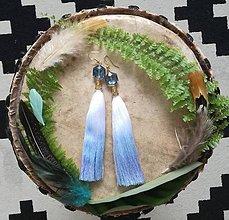 Náušnice - Ombre blue nausnicky - 9601385_
