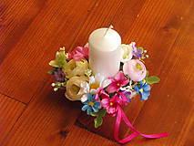 Dekorácie - Farebná dekorácia so sviečkou pre učiteľku - 9600311_