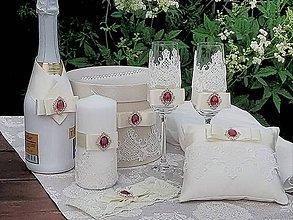 Prstene - Luxusný svadobý set ivory - 9601915_