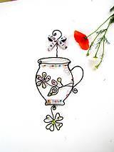 Dekorácie - bylinkový hrnček - 9600114_