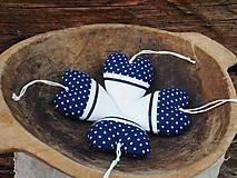 Dekorácie - srdiečka modré - 9602542_