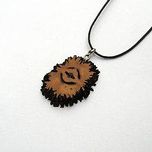 Náhrdelníky - Orechový ornament - 9601215_