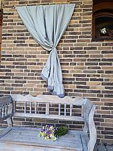 Úžitkový textil - Ľanový záves Romantic Grey (Šedá) - 9602225_