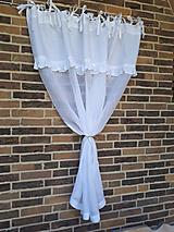 Úžitkový textil - Ľanová záclona Romantic White - 9602300_