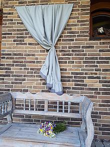 Úžitkový textil - Ľanový záves Romantic Grey - 9602225_