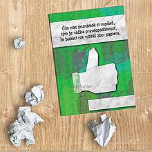 Papiernictvo - Učenie je cesta k výhre - vtipný zápisník - 9600430_