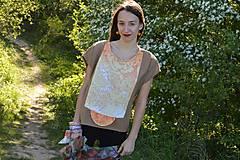 Topy - Schladenie slnka - originálny bavlnený top s aplikáciou. - 9604514_